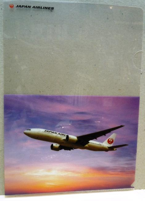 JAL A4クリアファイル鶴丸