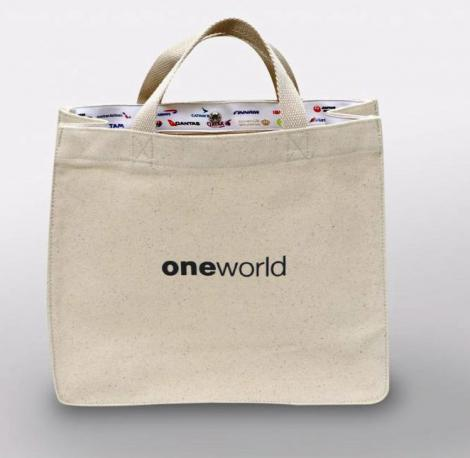 JAL one world トートバッグ(ホワイト)